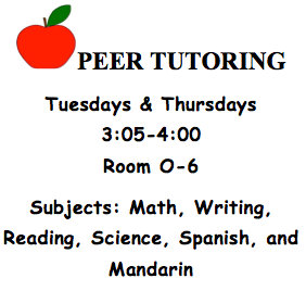 Peer tutoring all subjects
